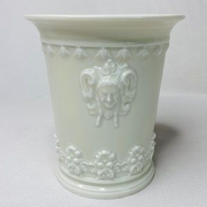 C. Haviland Limoges Embossed Porcelain Beaker Vase
